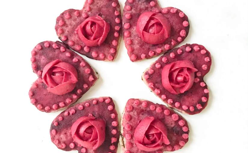 Hibiscus Shortbread with Blackberry Frosting(V)