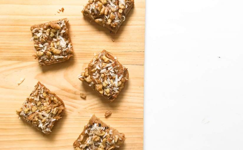 Fudgy Peanut Butter Banana Bars (V)